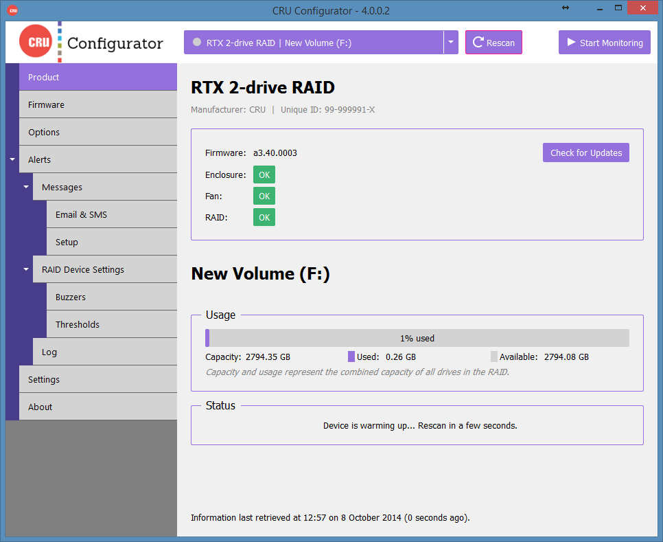 CRU Configurator 4.0 Screenshot
